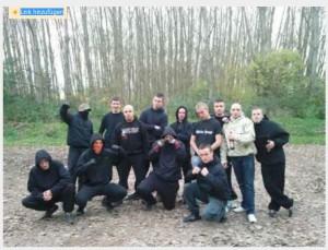 Nazis bei Poserfoto in Buchenwald